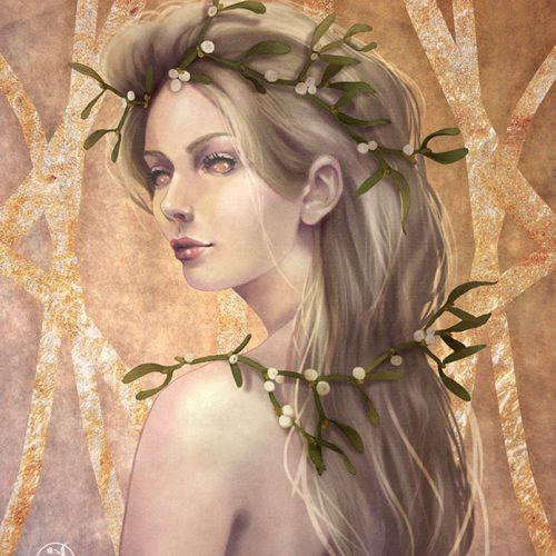 golden-mistletoe-portrait-marlena-mozgawa-lenamo-art