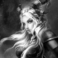 fanart portrait portraits fantasy character design horned image portfolio game art