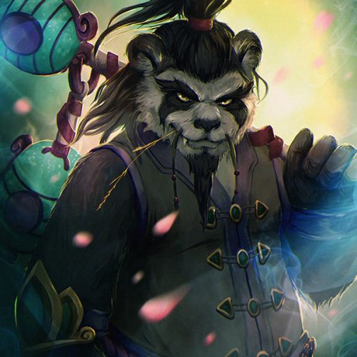 portfolio, contact, commission, pandaren, monk, anthro, anthropomorphic, furry, portrait, digital painting, cool character, fantasy, wow, world of warcraft, mmo, rpg character, monk outfit