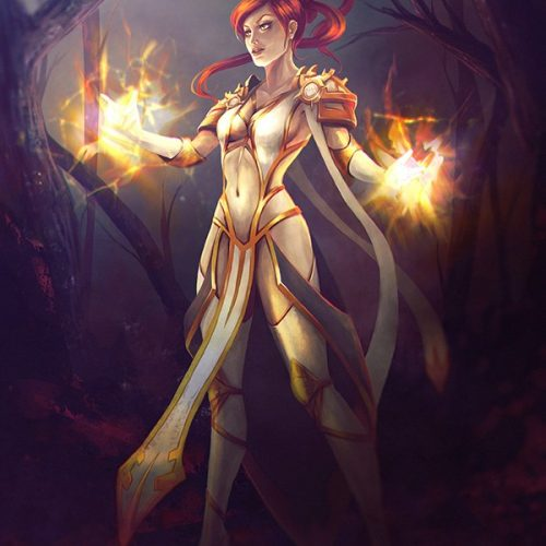 portfolio, paladin retribution, wow, world of warcraft, shield, shield maiden, female human, redhead, badass woman, orange hair, forest, sexy outfit, character design, fantasy character, healing spell, sorcerer, fire mage,