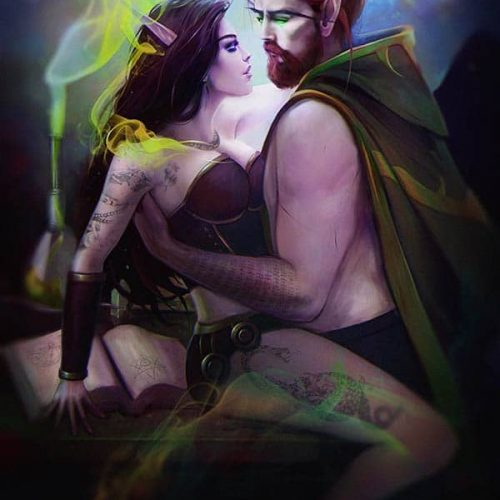 portfolio, adventure, wallpaper, black and white, lovers, alchemy, laboratory, illustration, digital painting, wow, world of warcraft, paladin, priest, magic, character painting, portrait, fantasy, character portrait, elf, bloodelf, couple, sensual, sexy portrait,