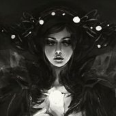 Lenamo's illustrations portfolio dark fantasy myths characters