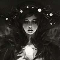 Lenamo's illustrations portfolio dark fantasy myths characters